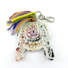 crocheted unicorn butt keychain