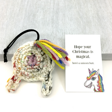 Unicorn Butt Christmas Gift with Card for Unicorn Lovers - Knot By Gran'ma