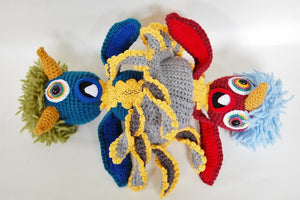 Topsy Turvy Monster Plush Doll Crochet Pattern