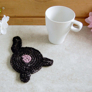 Black Cat Butt Coaster | Funny Cat Lover Decor - Knot By Gran'ma