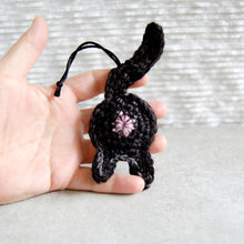 Black Cat Butt Ornament Held