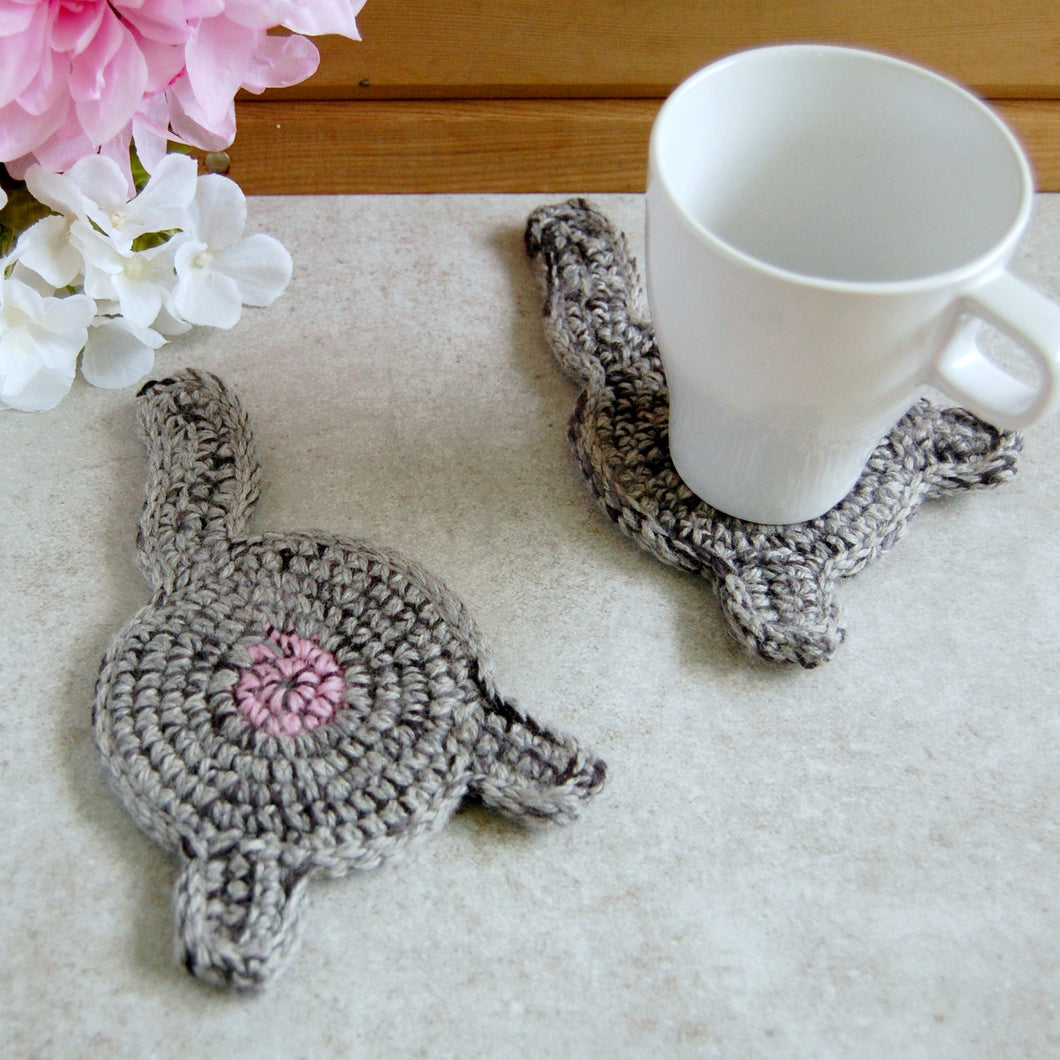 Gray Cat Butt Coaster | Funny Home Decor - Knot By Granma