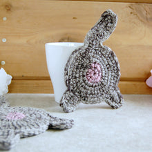 Gray Cat Butt Coaster | Funny Home Decor
