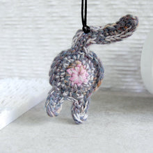 Funny Gray Purple Cat Butt Ornament - Knot By Gran'ma