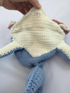 shark belly crochet hat