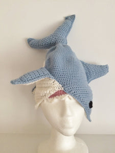 Great White Shark Hat Crochet Pattern