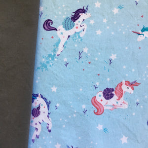 Unicorn Print & Dark Gray Personal Face Covering Non-Medical Mask with Ties