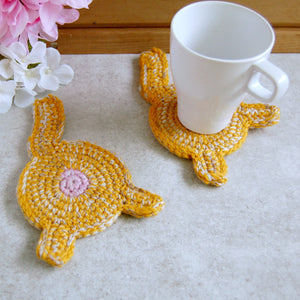 Orange Cat Butt Coaster | Funny Drink Accessories - Knot By Granma
