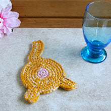 Orange Cat Butt Coaster | Funny Drink Accessories - Knot By Gran'ma