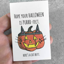 happy Halloween here's a cat butt card