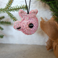 Pink Plush Llama Head Ornament - Knot By Gran'ma