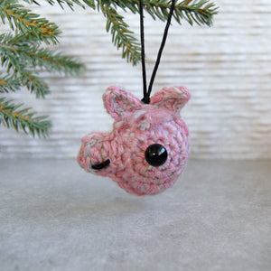 Pink Plush Llama Head Ornament - Knot By Granma