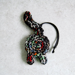 Funny Rainbow Black Cat Butt Ornament - Knot By Granma