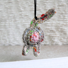 Rainbow Gray Cat Butt Ornament Front