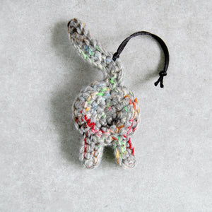 Funny Rainbow Gray Cat Butt Ornament - Knot By Granma