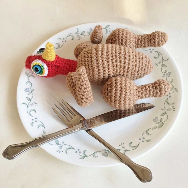 Custom Plush Roast Turkey Doll - Knot By Gran'ma