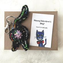 Rainbow Black Cat Butt Keychain Valentine's Day Gift - Knot By Gran'ma