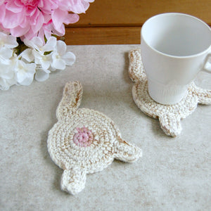 White Cat Butt Coaster | Funny Housewarming Gifts