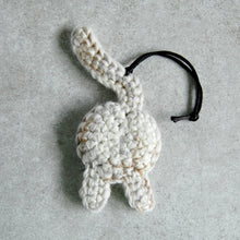Funny White Cat Butt Ornament - Knot By Gran'ma
