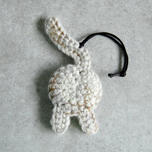 white-cat-butt-funny-ornament-cat-mom-gift-back