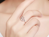 Premium 925 Sterling Silver Cat Heart Ring