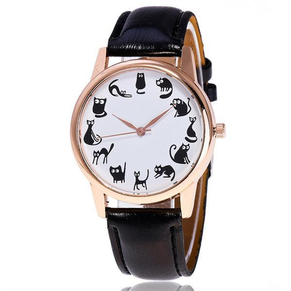 Cute Casual Cat Watch For Women