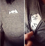Cat In Pocket T-Shirts