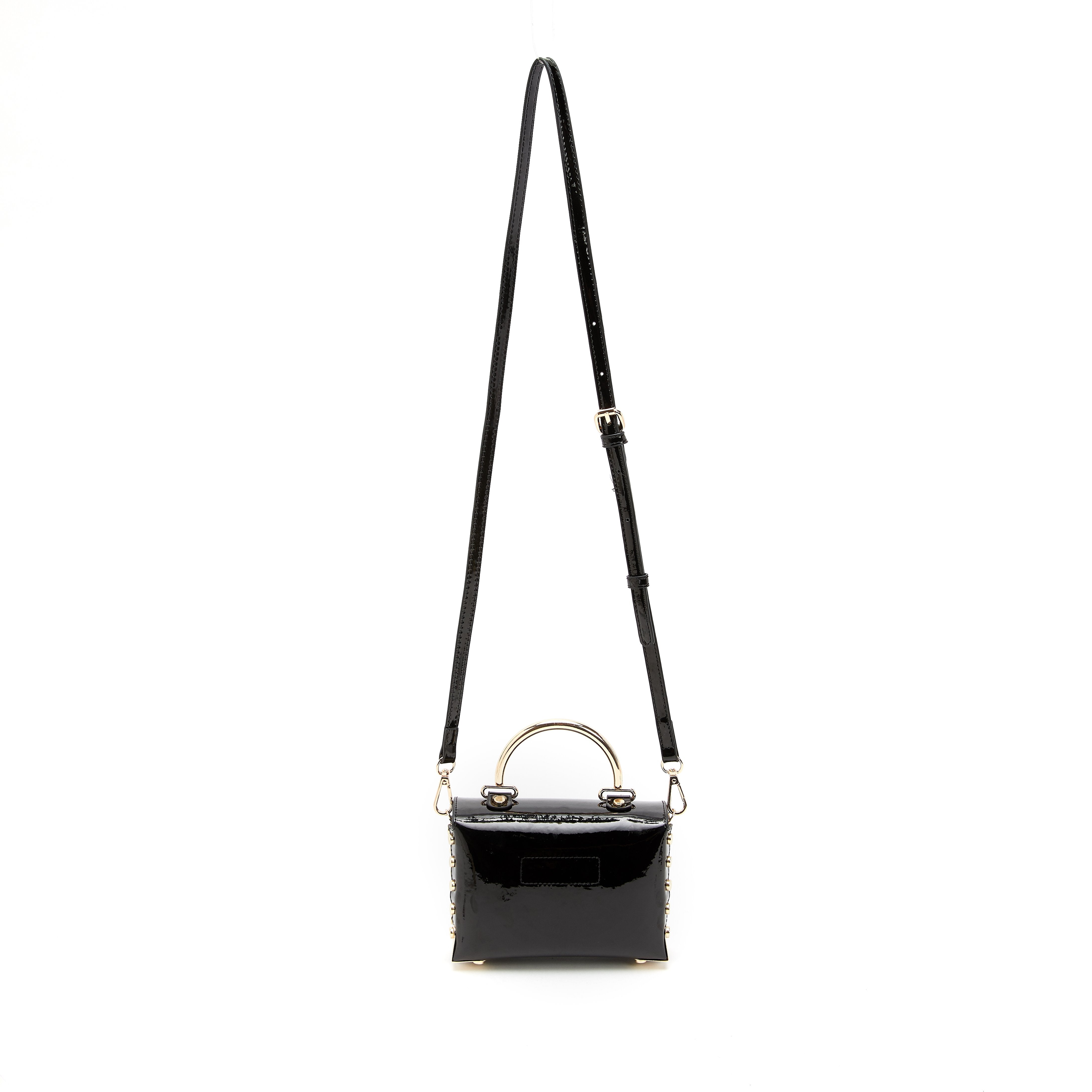 LIKE DREAMS Glossy Mini Tote Shoulder Bag