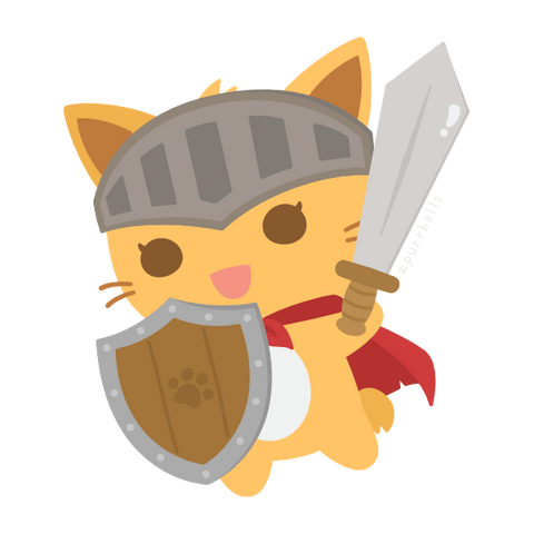 Purrballs: Catventure Card Game - Mochi the Knight