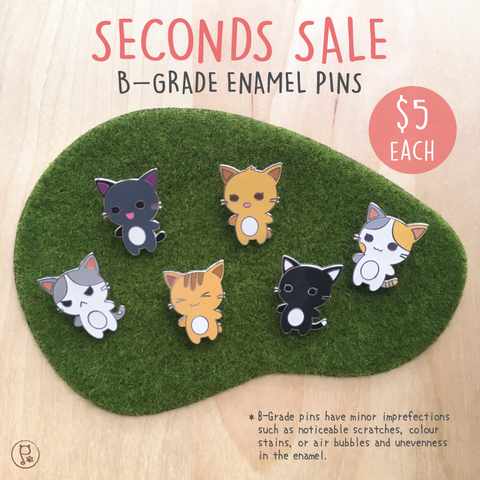 Purrballs Character Enamel Pins - Seconds Sale