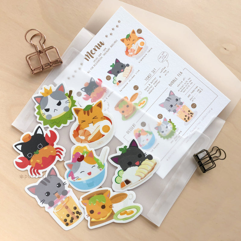 Singapawrean's Favourites Clear Stickers Set