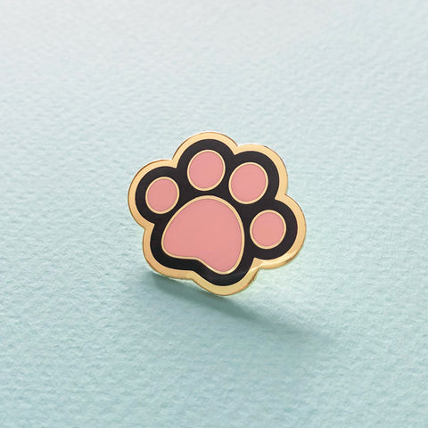 Black Cat Paw Enamel Pin