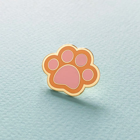 Ginger Cat Paw Enamel Pin