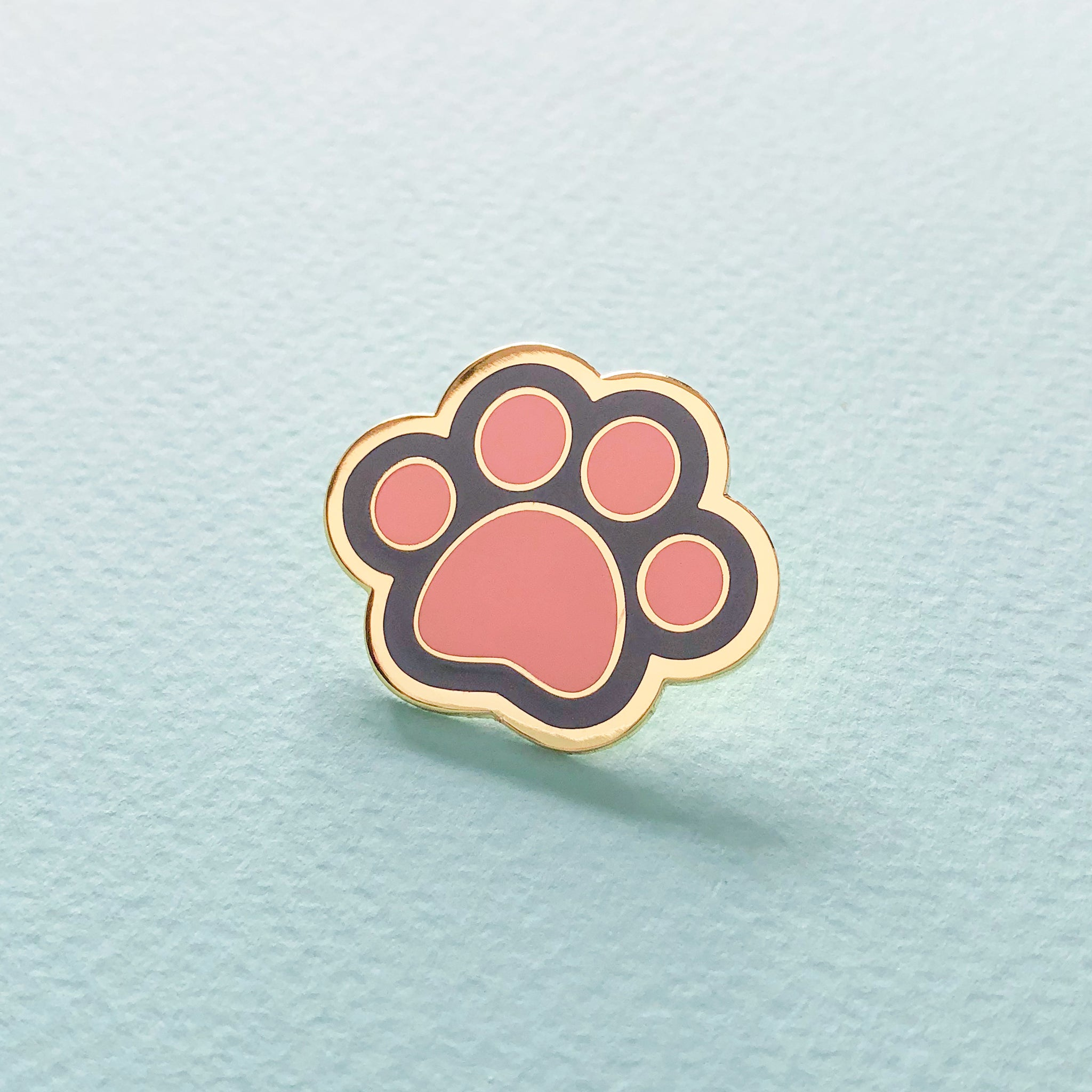 Grey Cat Paw Enamel Pin