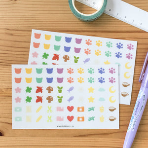 Clear Planner Sticker Sheet