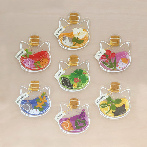 Purrballs Brew Clear Stickers Set
