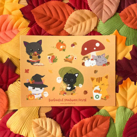 Enchanted Pawtumn Forest Sticker Sheet