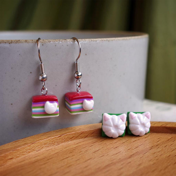 Kueh Tutu Cat Ear Studs