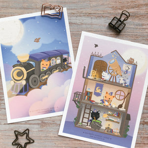 Meowgic School Art Print Set