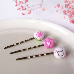 Sakura Wagashi Hair Pins Set