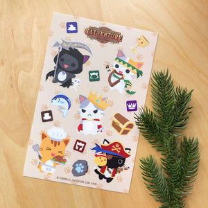 Purrballs: Catventure Card Game Sticker Sheet