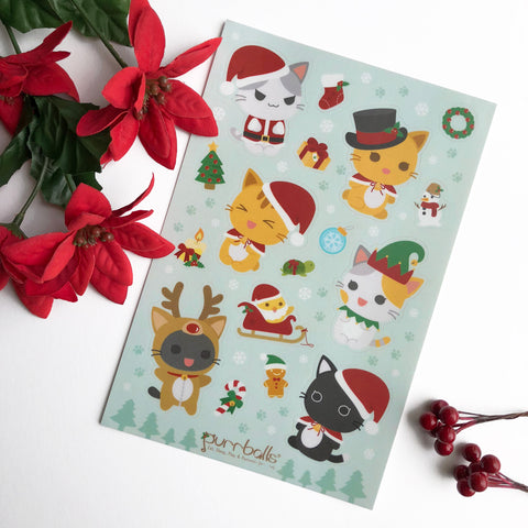Purry Christmas Sticker Sheet