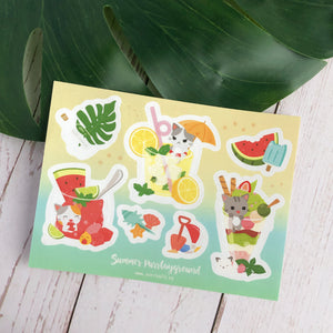 Summer Purrlayground Sticker Sheet
