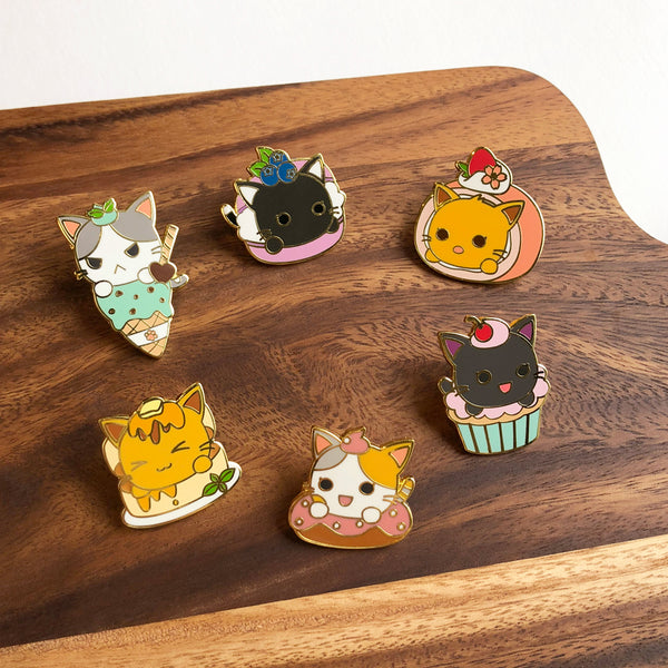 Konnyaku Cherry Cupcake Sweet Treats Enamel Pin
