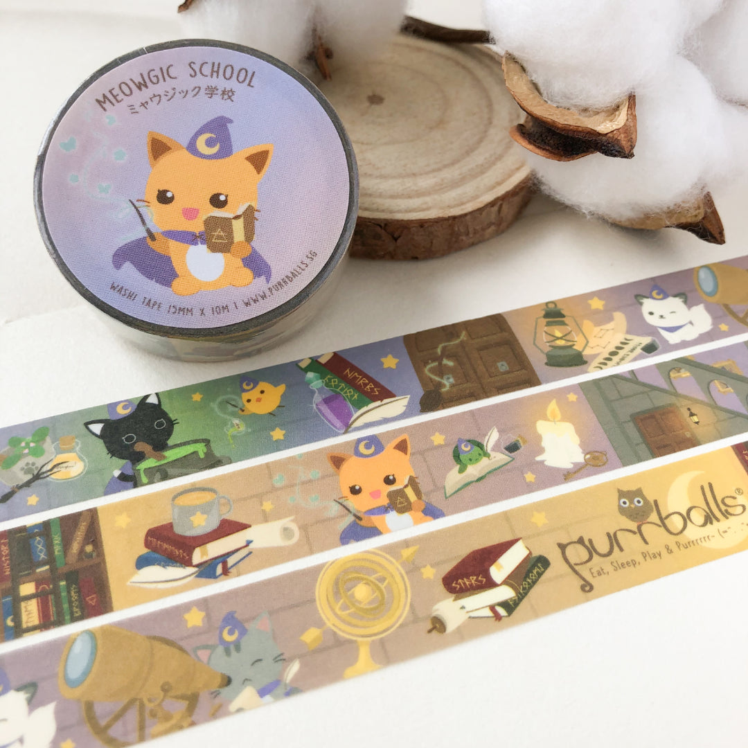 Meowgic School Washi Tape
