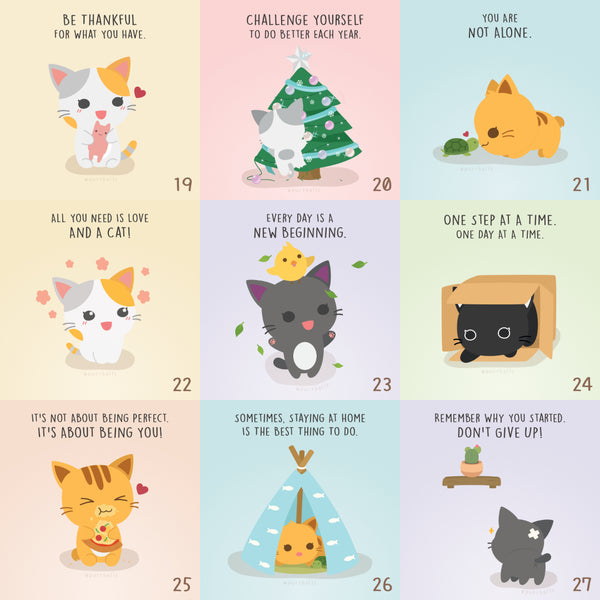 Purrs of Wisdom Postcard Set
