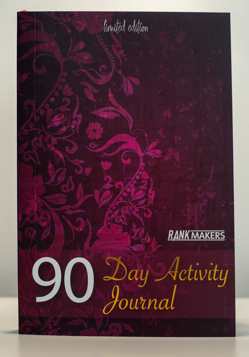 Rank Makers 90-Day Activity Tracker Journal - Red Velvet
