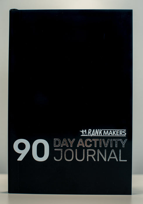 Rank Makers 90-Day Activity Tracker Journal - Black (annual subscription) Save 20%