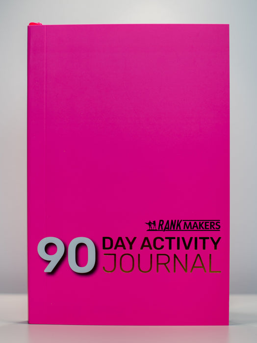 Rank Makers 90-Day Activity Tracker Journal -  Hot Pink