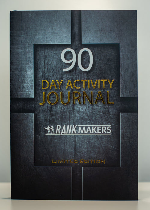 Rank Makers 90-Day Activity Tracker Journal - Steel